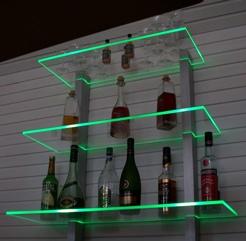 bar regal led beleuchtet ideal f r flaschen oder gl ser regale st nder. Black Bedroom Furniture Sets. Home Design Ideas