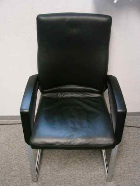 SITAG-Leder-Stühle, hochwertig - Büromöbel