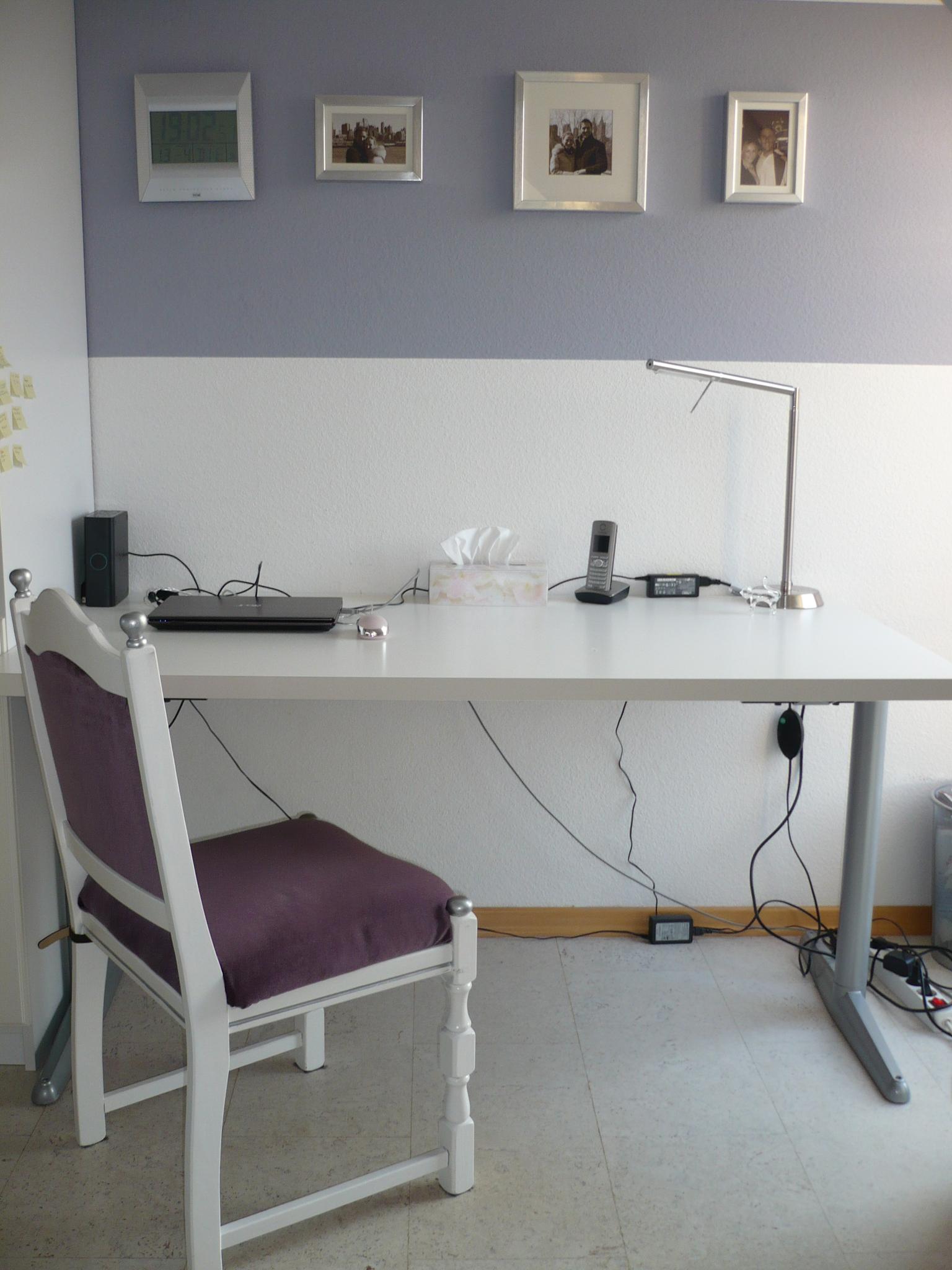 SCHREIBTISCH weiß, schlicht superschön - Büromöbel