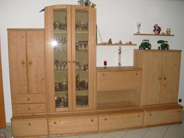 wohnzimmer schrank glasvitrine esstisch st hle helle fichte massiv gewachst wohnzimmer. Black Bedroom Furniture Sets. Home Design Ideas