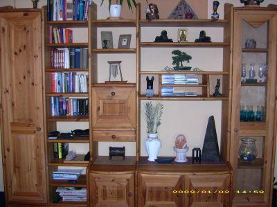 wohnwand kiefer gelaugt ge lt massiv wohnzimmer anbauschrank. Black Bedroom Furniture Sets. Home Design Ideas